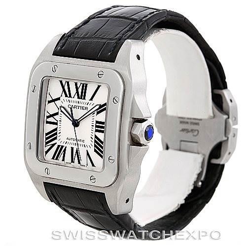 Cartier Santos 100 Steel Automatic Large Mens Watch W20073X8 SwissWatchExpo