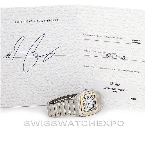 6914 Cartier Santos Galbee XL Steel 18K Yellow Gold Mens Watch W20099C4 SwissWatchExpo