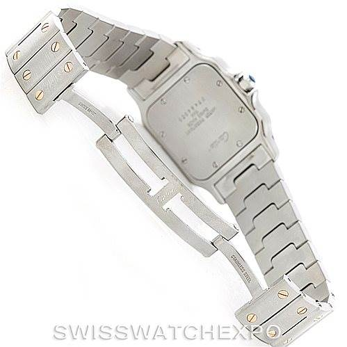 Cartier Santos Large Steel 18K Yellow Gold Watch W20011C4 SwissWatchExpo