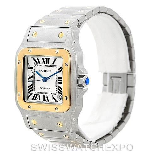 7066 Cartier Santos Galbee XL Steel 18K Yellow Gold Mens Watch W20099C4 SwissWatchExpo