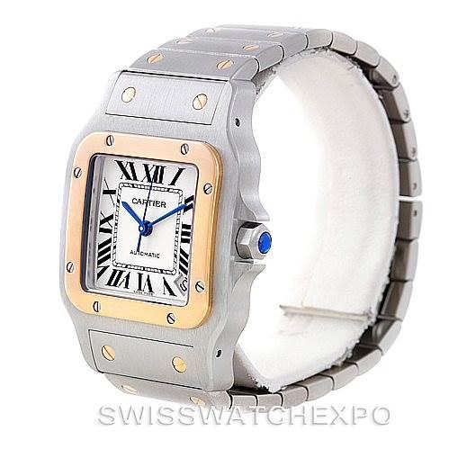 7025 Cartier Santos Galbee XL Steel 18K Yellow Gold Mens Watch W20099C4 SwissWatchExpo