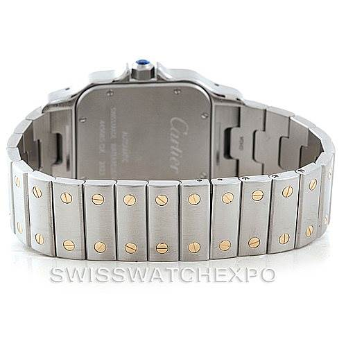 7025 Cartier Santos Galbee XL Steel 18K Yellow Gold Mens Watch W20099C4 SwissWatchExpo