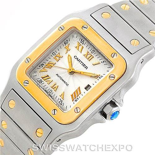 6605 Cartier Santos Galbee Large Steel 18K Yellow Gold Watch W20058C4 SwissWatchExpo