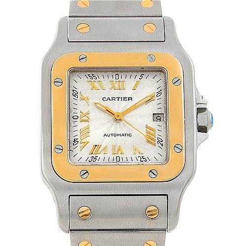 Cartier Santos Galbee Large Steel 18K Yellow Gold Watch W20058C4 SwissWatchExpo
