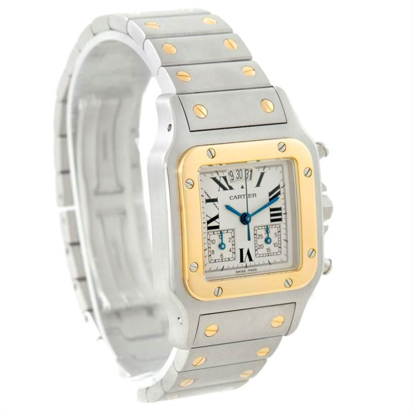 7707 Cartier Santos Chronoflex Steel 18K Yellow Gold Watch W20042C4 Unworn  SwissWatchExpo