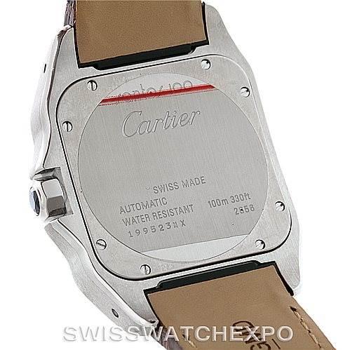 8790 Cartier Santos 100 Automatic Mens Watch W20073X8 Unworn SwissWatchExpo