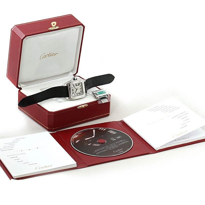 8014 Cartier Santos 100 Automatic Mens Watch W20073X8 Unworn SwissWatchExpo