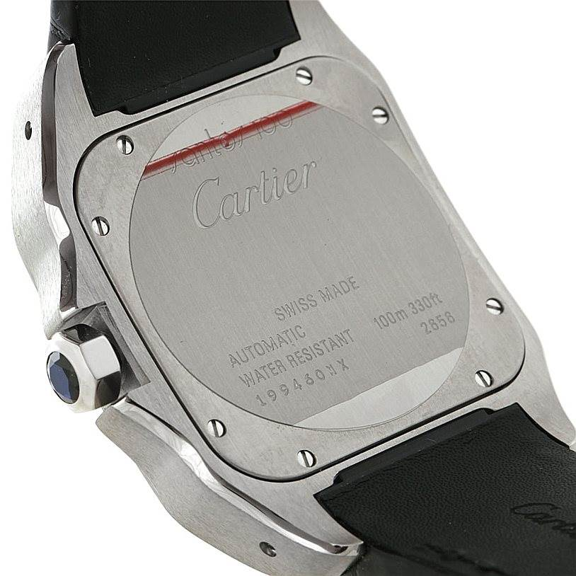 8014 Cartier Santos 100 Automatic Mens Watch W20073X8 Unworn SwissWatchExpo