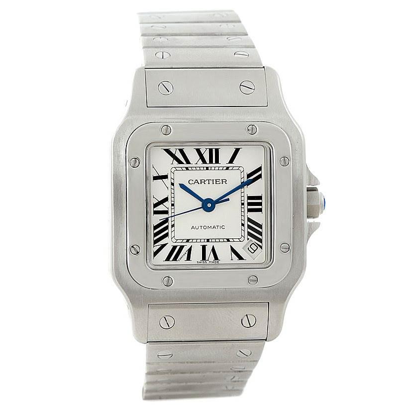 7863 Cartier Santos Galbee XL Steel Mens Watch W20098D6 SwissWatchExpo