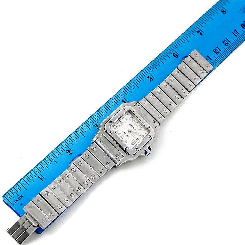 7676 Cartier Santos Galbee Mens Automatic Steel Watch W20055D6 SwissWatchExpo