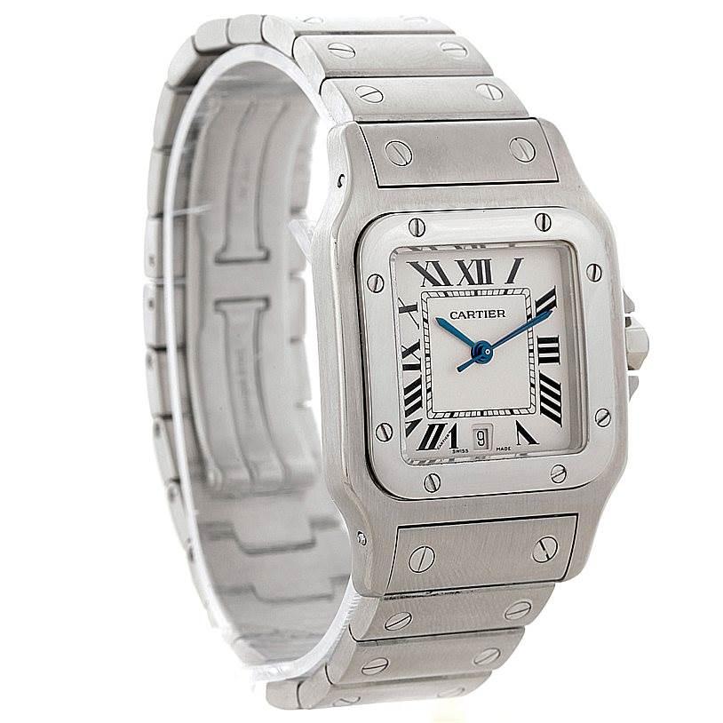4836 Cartier Santos Galbee Mens Quartz Steel Watch W20060D6 SwissWatchExpo
