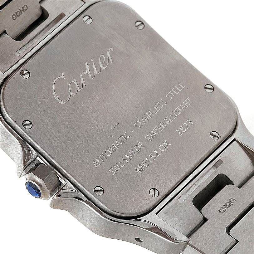 8203 Cartier Santos Galbee XL Steel Mens Watch W20098D6 SwissWatchExpo