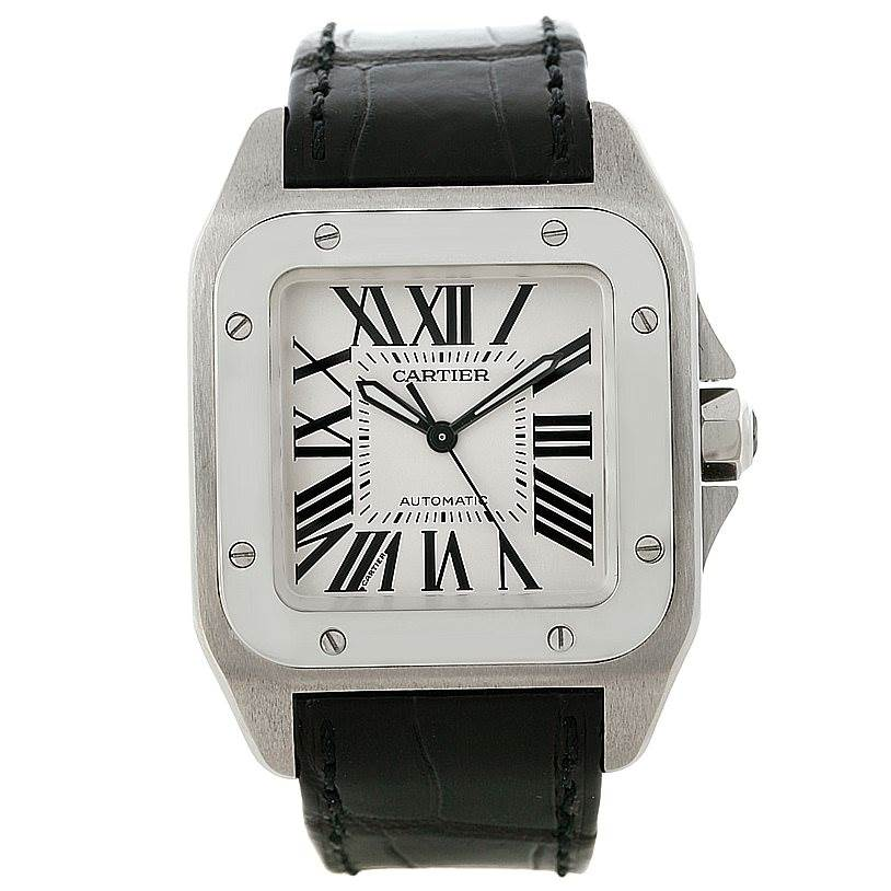 Cartier Santos 100 Stainless Steel Medium Size Watch W20106X8 SwissWatchExpo