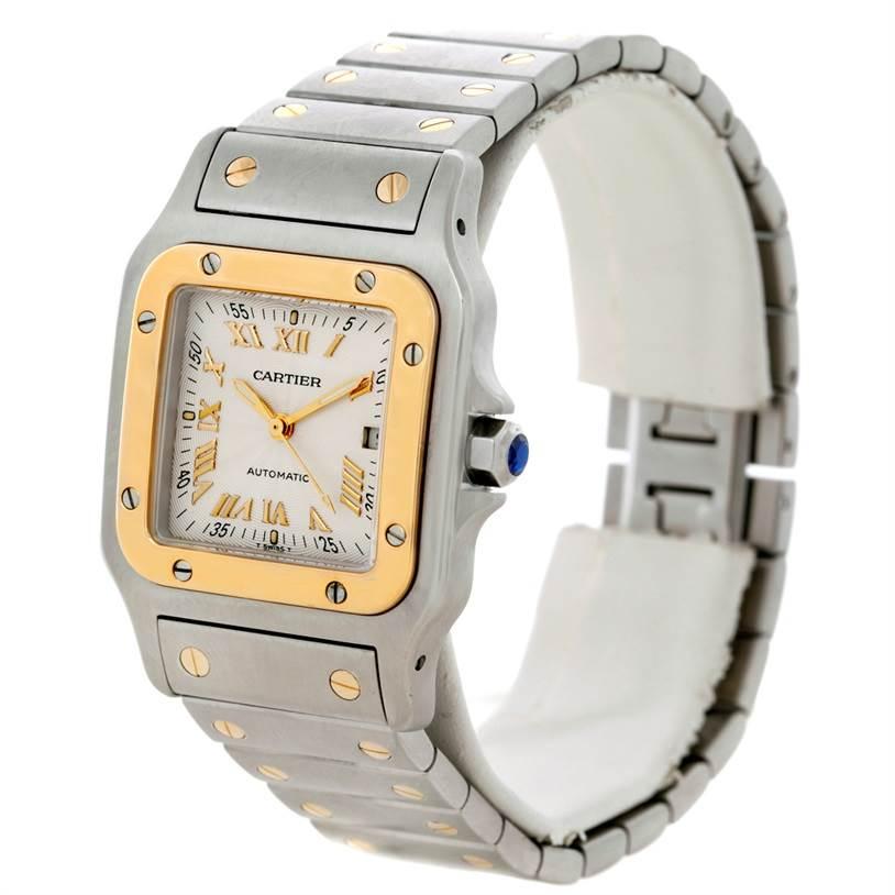 8025 Cartier Santos Galbee Large Steel 18K Yellow Gold Watch W20058C4 SwissWatchExpo