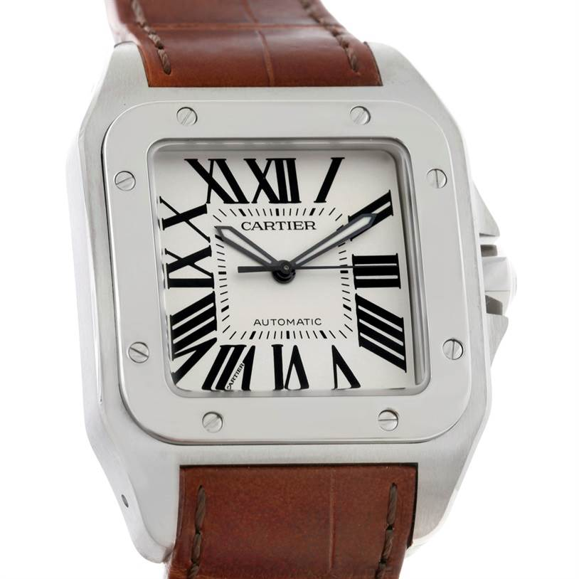 8790 Cartier Santos 100 Automatic Mens Watch W20073X8 Unworn SwissWatchExpo