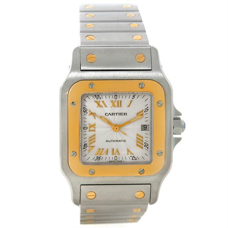 Cartier Santos Galbee Large Steel 18K Yellow Gold Watch W20058C4 SwissWatchExpo