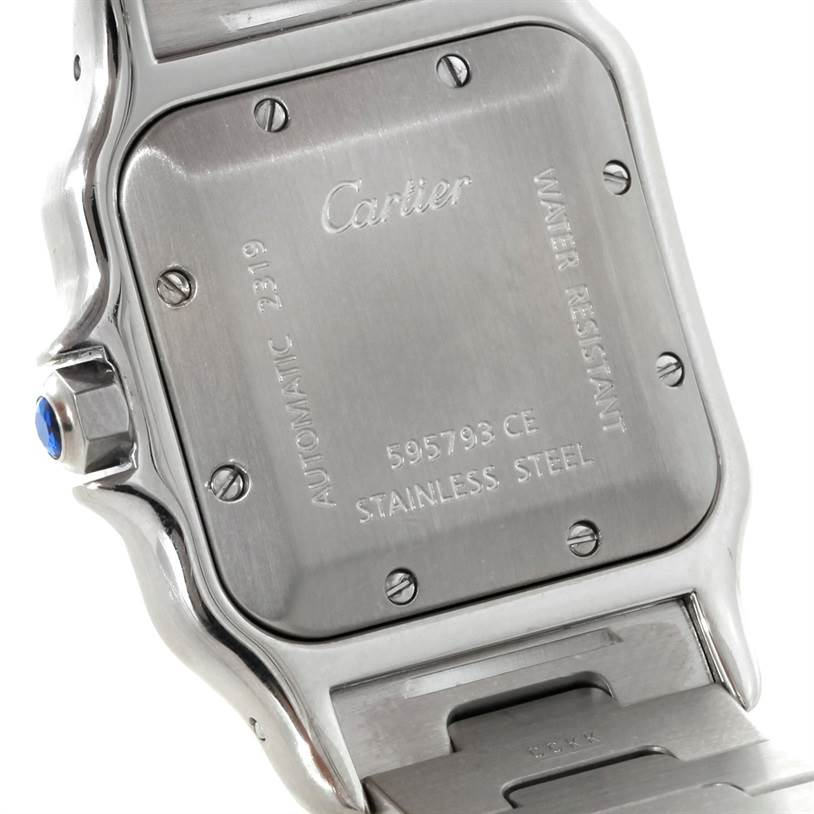 8560 Cartier Santos Galbee Large Automatic Steel Watch W20055D6 SwissWatchExpo