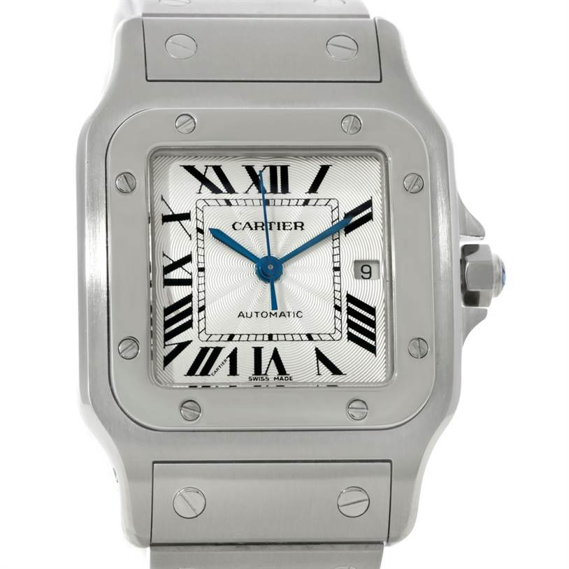 8447 Cartier Santos Galbee Large Automatic Steel Watch W20055D6 SwissWatchExpo
