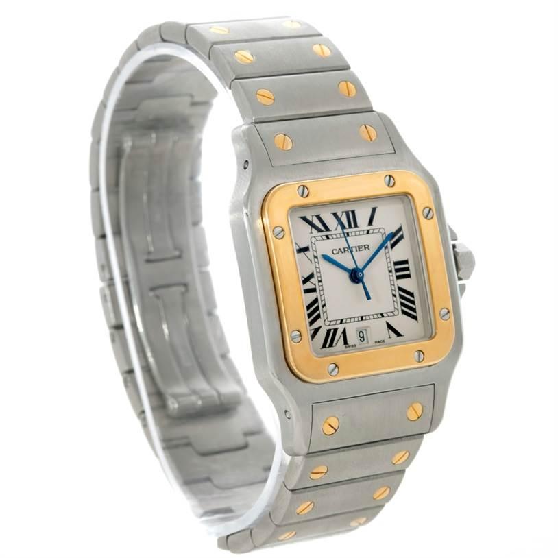 Cartier Santos Galbee Large Steel 18K Yellow Gold Watch W20011C4 SwissWatchExpo