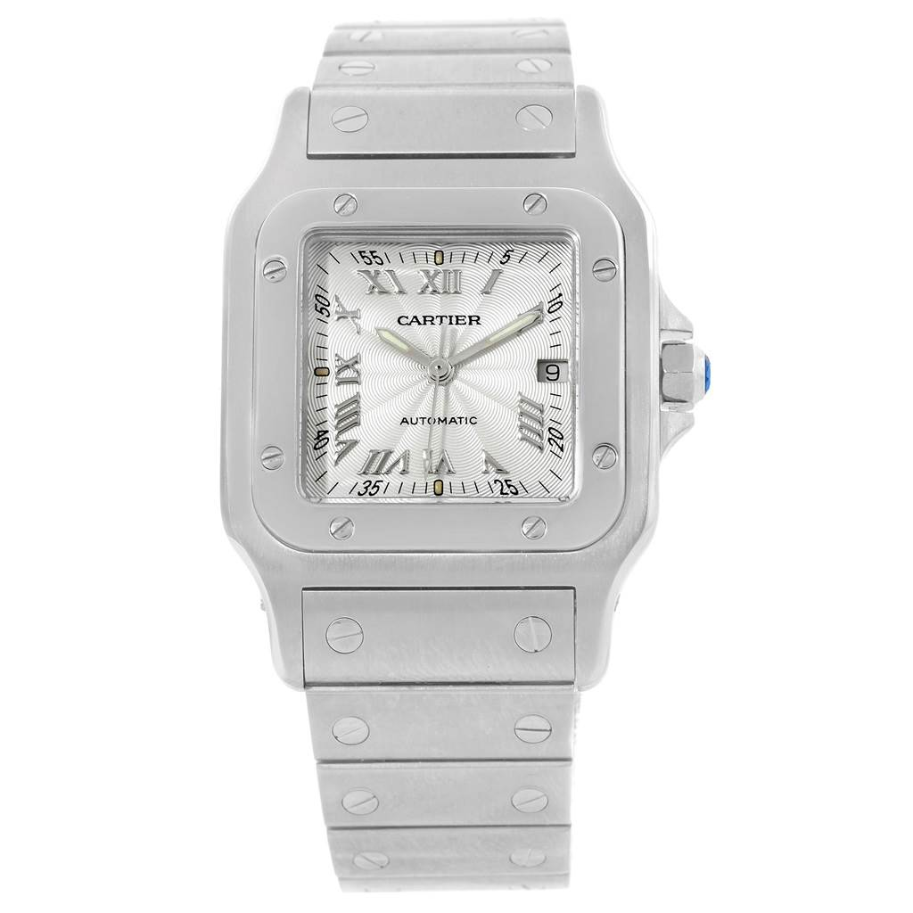 8878 Cartier Santos Galbee Silver Dial Automatic Steel Mens Watch W20055D6 SwissWatchExpo