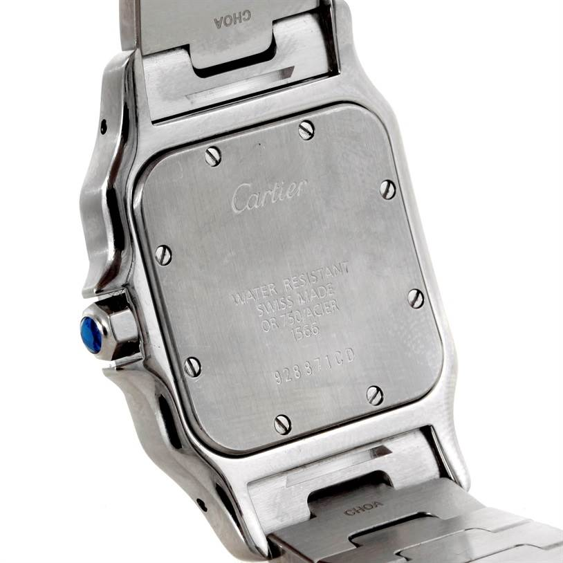 9099 Cartier Santos Galbee Large Steel 18K Yellow Gold Watch W20011C4 SwissWatchExpo