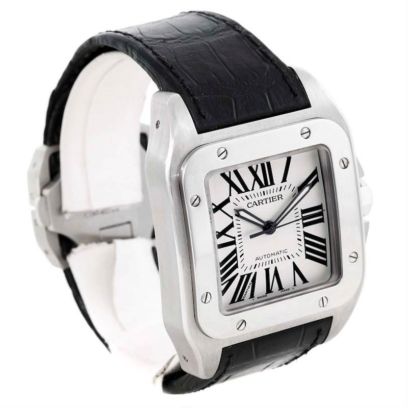 Cartier Santos 100 Automatic Mens Watch W20073X8 SwissWatchExpo