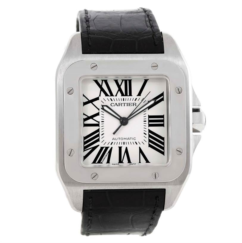 9836 Cartier Santos 100 Automatic Mens Watch W20073X8 SwissWatchExpo