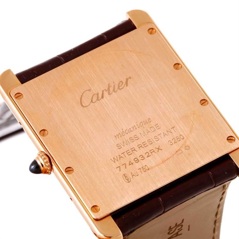 10387 Cartier Tank Louis 18k Rose Gold Manual Watch W1560017 Unworn SwissWatchExpo
