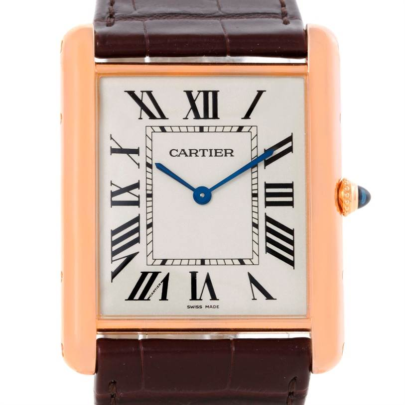 10387 Cartier Tank Louis 18k Rose Gold Manual Watch W1560017 Unworn SwissWatchExpo