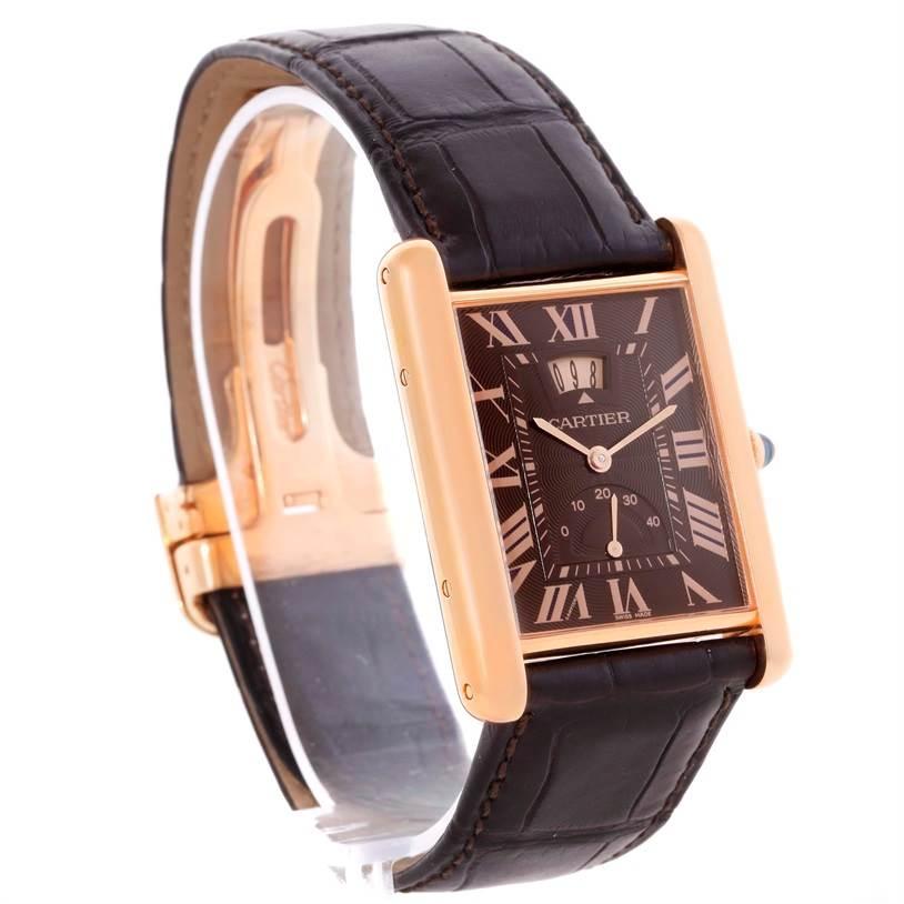 10899P Cartier Tank Louis XL Power Reserve 18k Rose Gold Watch W1560002 SwissWatchExpo