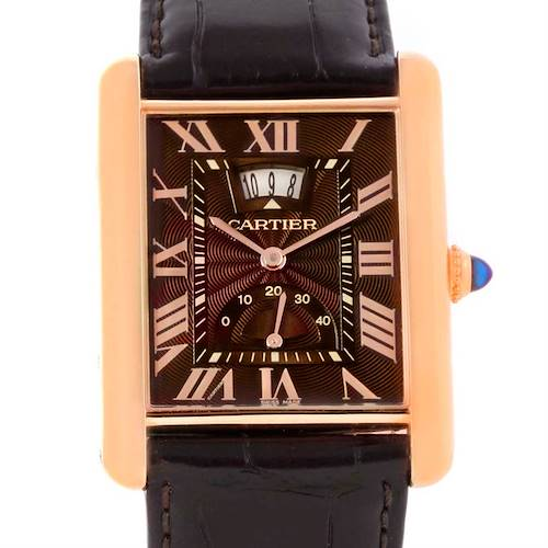 Photo of Cartier Tank Louis XL Power Reserve 18k Rose Gold Watch W1560002