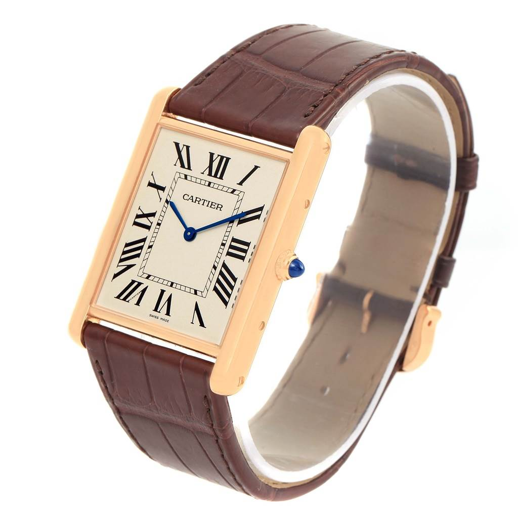 13965 Cartier Tank Louis XL 18k Rose Gold Manual Winding Watch W1560017 SwissWatchExpo