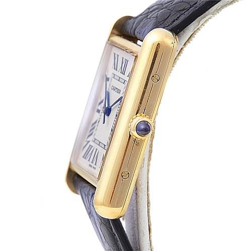 2005 Cartier Mens Tank Louis 18k Yellow Gold Watch W1529756 SwissWatchExpo