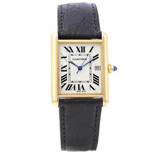 Photo of Cartier Mens Tank Louis 18k Yellow Gold Watch W1529756