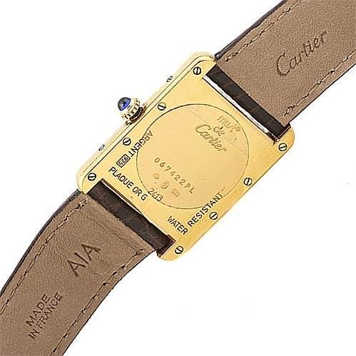 2024 Cartier Tank Louis 18k Yellow Gp Must De Cartier Watch SwissWatchExpo