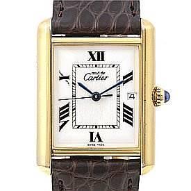 Photo of Cartier Tank Louis 18k Yellow Gp Must De Cartier Watch