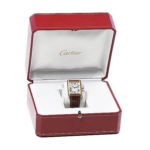 2080 Cartier Tank Louis Mens 18k Yellow Gold Watch W1529756 SwissWatchExpo