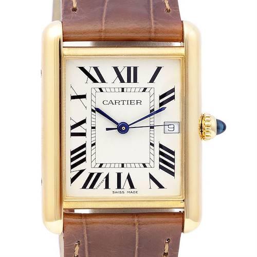 Photo of Cartier Tank Louis Mens 18k Yellow Gold Watch W1529756