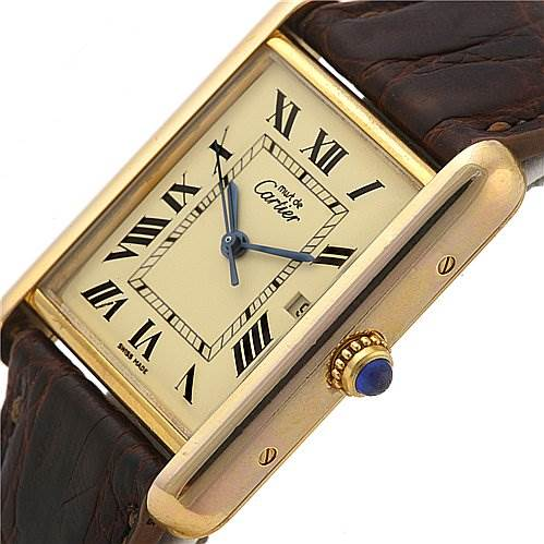 2334 Cartier Tank Louis 18k Yellow Gp Must-de-cartier Watch SwissWatchExpo