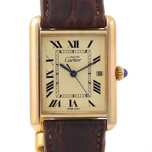 Photo of Cartier Tank Louis 18k Yellow Gp Must-de-cartier Watch