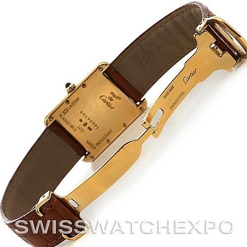 2483 Cartier Tank Louis 18k Yellow Gp Must-de-cartier Watch SwissWatchExpo