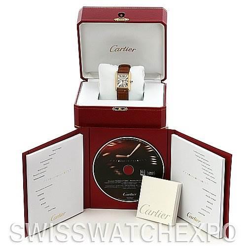 2520 Cartier Tank Louis Mens 18k Yellow Gold Watch W1529756 SwissWatchExpo