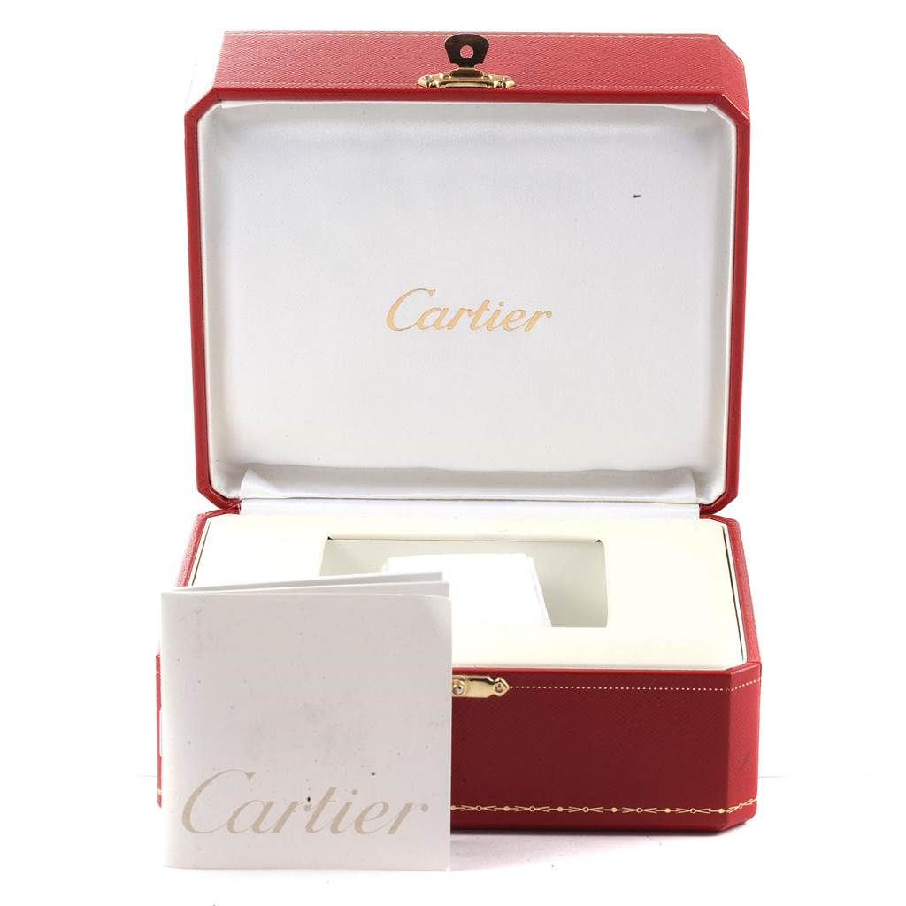 Cartier Tank Louis 18k Yellow Gold Brown Strap Watch W1529756 SwissWatchExpo