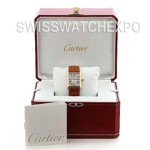 2525 Cartier Tank Louis Mens 18k Yellow Gold Watch W1529756 SwissWatchExpo