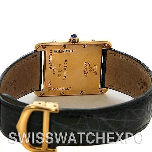 2331 Cartier Tank Louis 18k Yellow Gp Must-de-cartier Watch SwissWatchExpo