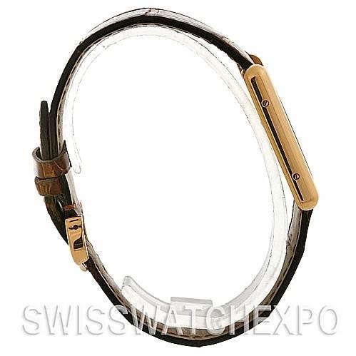 2540 Cartier Tank Louis Mens 18k y Gold Date Watch W1529756 SwissWatchExpo