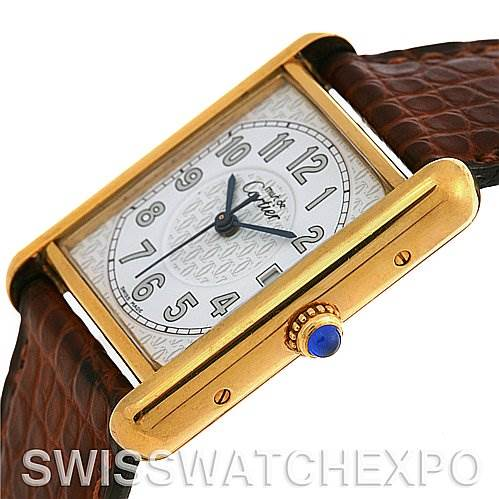 2620 Cartier  Tank Louis 18k Yellow GP Must De Cartier Watch SwissWatchExpo