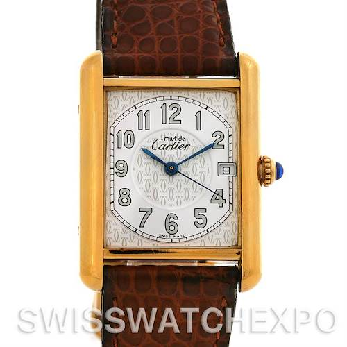 Photo of Cartier  Tank Louis 18k Yellow GP Must De Cartier Watch