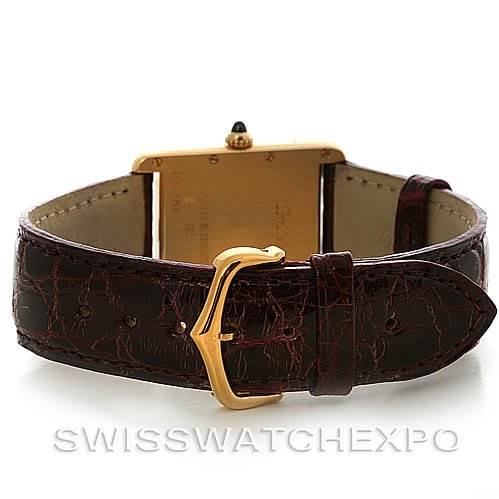 2725 Cartier  Tank Louis mens 18k y gold date watch W1529756 SwissWatchExpo