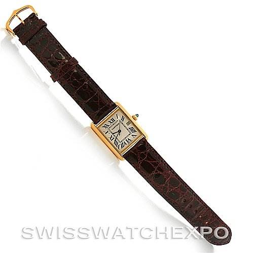 2725 Cartier  Tank Louis mens 18k y gold date watch W1529756 SwissWatchExpo